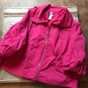 Chico's Jackets & Blazers - Chico's windbreaker with zipper and back pleat,
