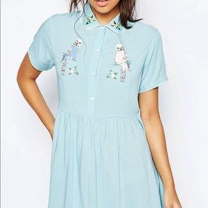 Lazy Oaf Dresses & Skirts - RARE NWOT Lazy Oaf Budgie Dress