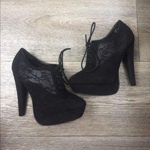 Not Rated Shoes - Lace Detailed Booties