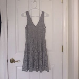 Venus of Cortland Dresses & Skirts - Lacey silver dress