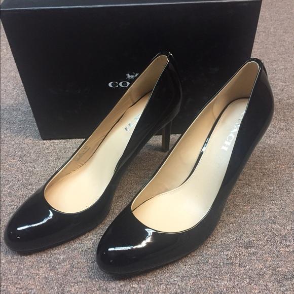 2b8c3e8908 Coach Shoes | New Rosey Black Patent Leather Heels | Poshmark