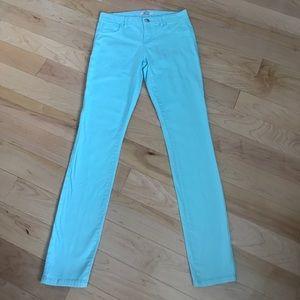 refuge Pants - Size 6 designer refuge teal skinny pants