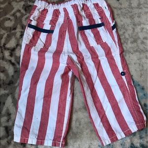 Mini Boden Bottoms - BABY BODEN | Roll Up Striped Pants Size 12-18m