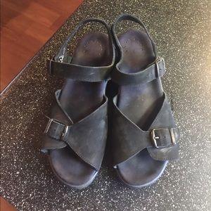 Mephisto Shoes - Mephisto Black Sandals 2 inch heel