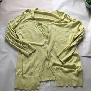 Old Navy Yellow Button up Cardigan