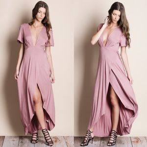 Full Wrap Maxi Dress