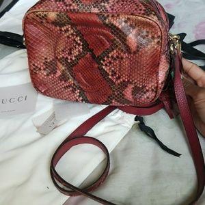 Gucci  Handbags - Rare Gucci python Soho disco bag