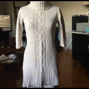 Cream colored sweater dress