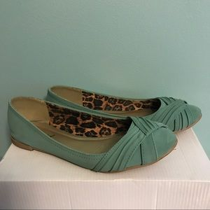 Shoes - Teal slip on shoes