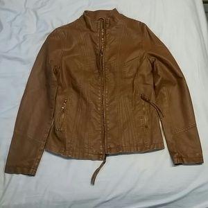 Big Chill Jackets & Blazers - Tan faux leather jacket