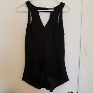 Maude Tops - Maude black fitted tank top
