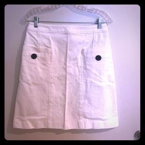 APC heavy white jeans skirt