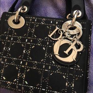 b714188899a Christian Dior Bags - RARE Dior Mini Lady Crystal Cannage Satin Handbag