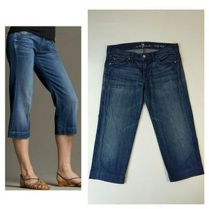 7 For All Mankind crop dojo jeans size 27