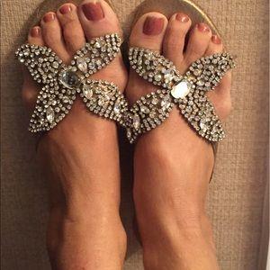 Beverly Feldman Shoes - Beverly Feldman starfish rhinestone sandals