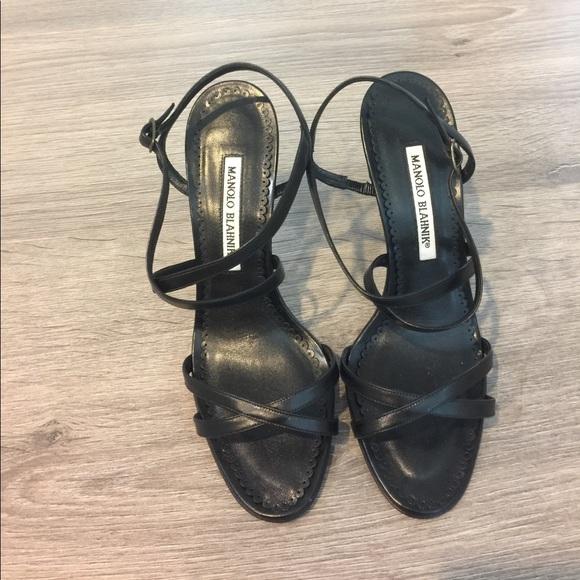 45fe2e4ae533 Manolo Blahnik strappy black sandals