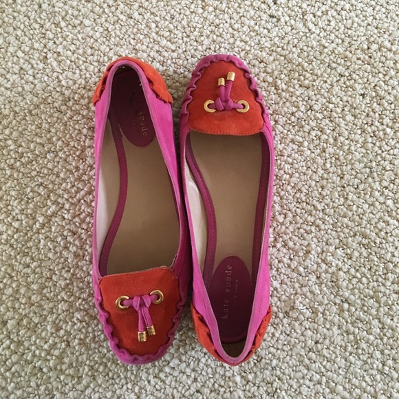 1cff71551 kate spade Shoes - Kate Spade Gwenda Flats - Pink & Orange Suede