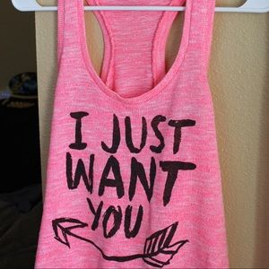 Stranded Tops - Stranded Bright Pink Juniors Graphic Tank Top
