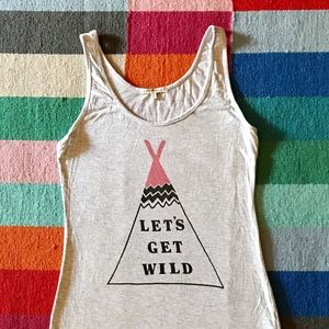 Junk Food Clothing Tops - Junk Food Clothing Tank XS Let's Get Wild
