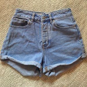 Brandy Melville Pants - High Waisted Brandy Melville Jean Shorts