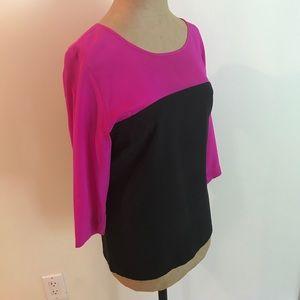 Amanda Uprichard Tops - Amanda Uprichard 3/4 length sleeve 100% silk top!!