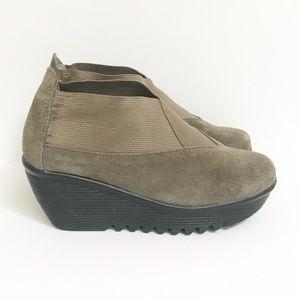 bernie mev. Shoes - Bernie Mev Hush Suede Wedge in Khaki