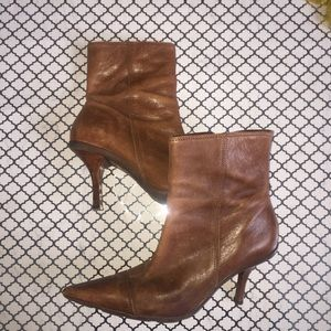 SCHUTZ Shoes - Gorgeous distressed brown leather booties
