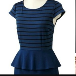 🔵Navy Peplum Dress!