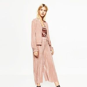 Zara Basics Pleated Bomber Jacket