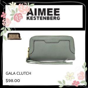 Aimee Kestenberg Handbags - Aimee Kestenberg Olive Gala Clutch. NWT