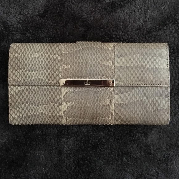 bd269410cfeb Gucci Bags | Authentic Genuine Snakeskin Wallet | Poshmark