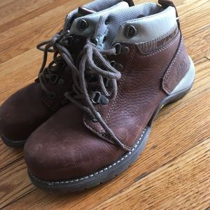 Caterpillar Shoes - Brown Steel Toe Caterpillar Ankle Boots