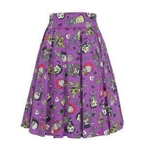 Pinup Girl Clothing Dresses & Skirts - Laura Byrnes Monster Mayhem Skirt