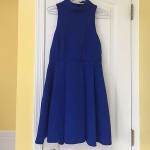 Lulu's Dresses & Skirts - Lulu's blue high neck blackless dress!