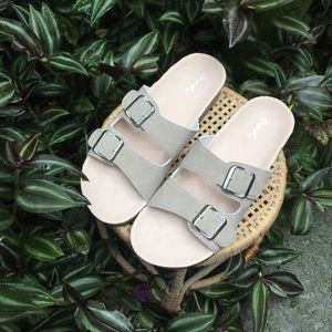 Qupid Shoes - Qupid Natural 'Birkenstock Style' Sandals