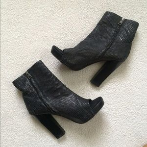 All Saints Shoes - ALL SAINTS Open Toe Black Booties Sz 9 // 40