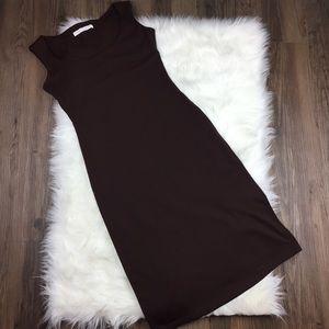 Susana Monaco Dresses & Skirts - Susana Monaco Brown Scoop Neck Nicole Dress