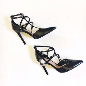 Zara Shoes - Zara trafaluc black studded caged heels