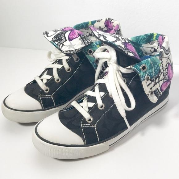 76 coach shoes coach quot bonney quot signature high top