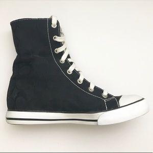 """Coach Shoes - COACH """"Bonney"""" Signature high top canvas sneakers!"""