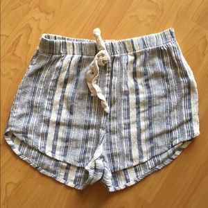 A Is For Audrey Pants - Striped shorts