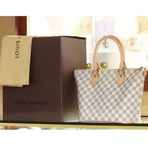 Louis Vuitton Handbags - Louis Vuitton Damier Azur Saleya PM Tote