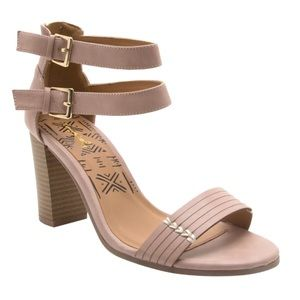 Qupid Shoes - ❗️ⓢⓐⓛⓔ❗️Blush Leather Ankle Strap Aztec Sandal