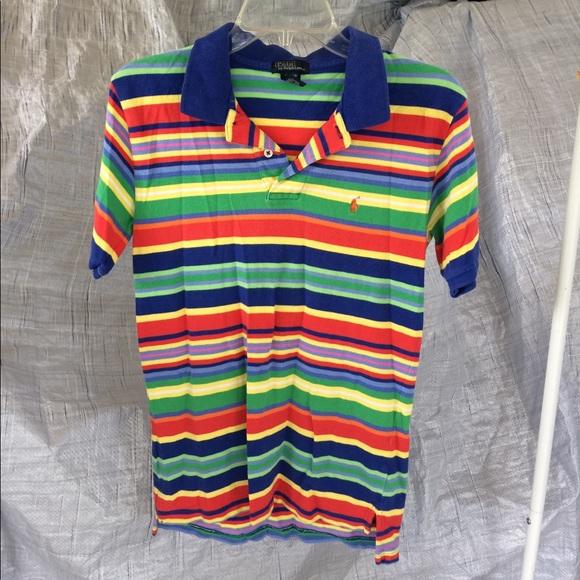 Polo Shirts   Tops   Vintage Ralph Lauren Rainbow Colored   Poshmark 1e354d690c1