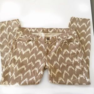 7 For All Mankind Denim - 7 For All Mankind Toffee Ikat Pattern Jeans Sz 32