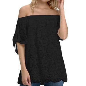 Tops - Off the shoulder lace top