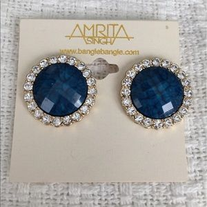 Amrita Singh Jewelry - Amrita Singh Blue/diamond earrings