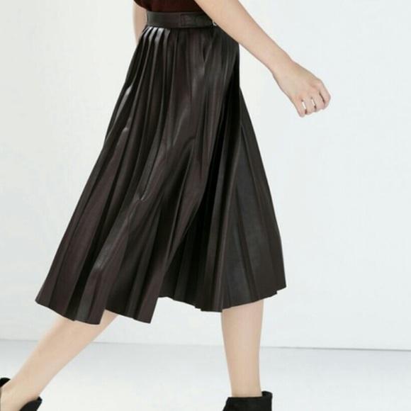 50 zara dresses skirts zara faux leather pleated