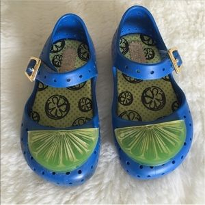 Mini Melissa Other - Mini Melissa lime wedge blue shoes