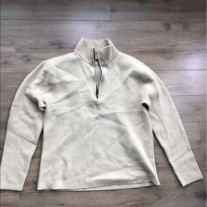 Banana republic sweatshirt wool zip up long sleeve
